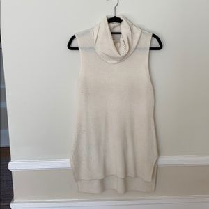 Sleeveless cowl neck sweater